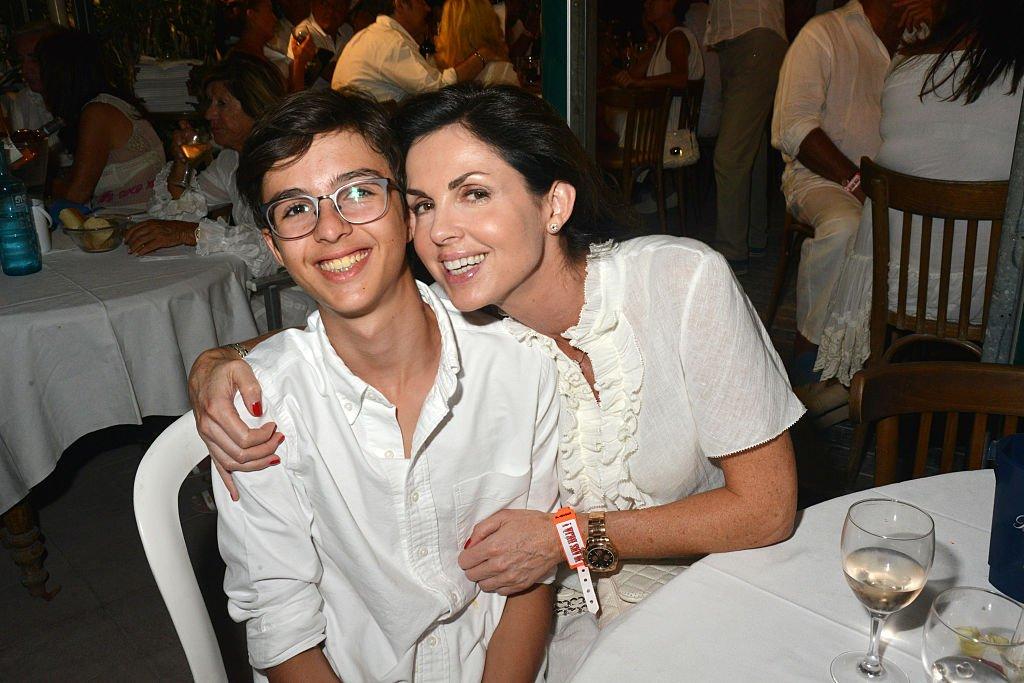 Caroline Barclay et son fils Vincent. l Source: Getty Images