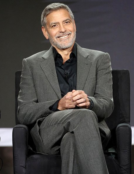 George Clooney of the television show 'Catch 22' speaks during the Hulu segment of the 2019 Winter Television Critics in Pasadena, California | Photo : Getty Images