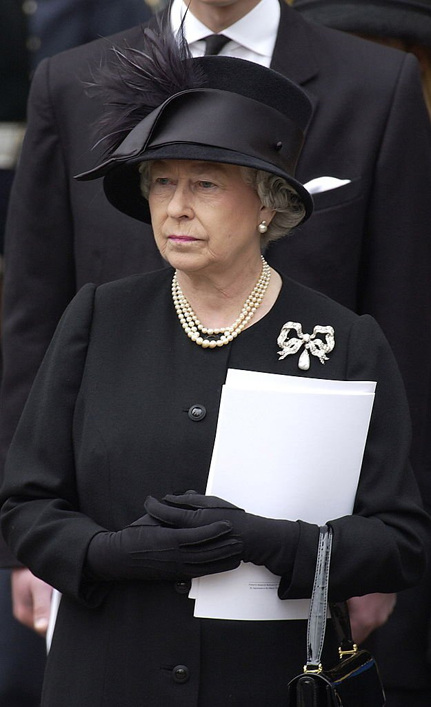 Queen Elizabeth II pictured at her mother, The Queen Mother's funeral. 2009, England. | Photo: Getty Images