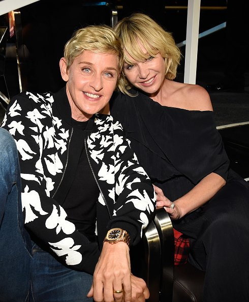 : Ellen DeGeneres and Portia de Rossi at the 2017 MTV Video Music Awards in Inglewood, California.| Photo: Getty Images.