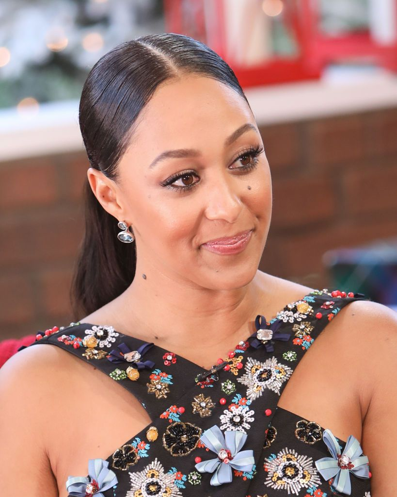 """Actress Tamera Mowry-Housley visited Hallmark Channel's """"Home & Family"""" at Universal Studios Hollywood on November 07, 2019 in Universal City, California. 