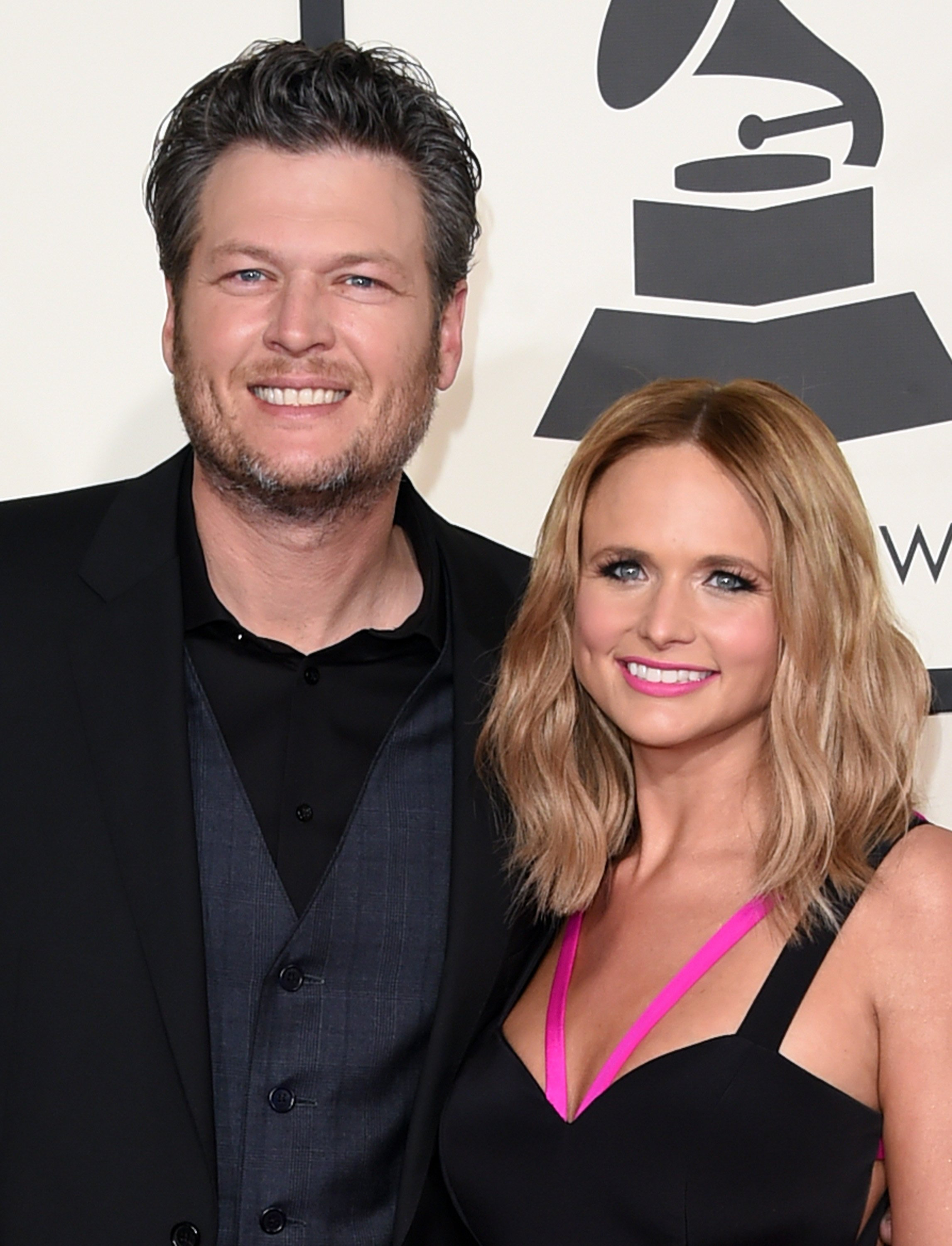 Blake Shelton (L) and Miranda Lambert attend The 57th Annual GRAMMY Awards at the STAPLES Center on February 8, 2015 | Photo: Getty Images