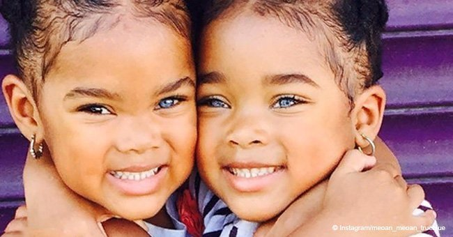 Girls called 'world's cutest twins' look so grown up wearing high heels in new photo