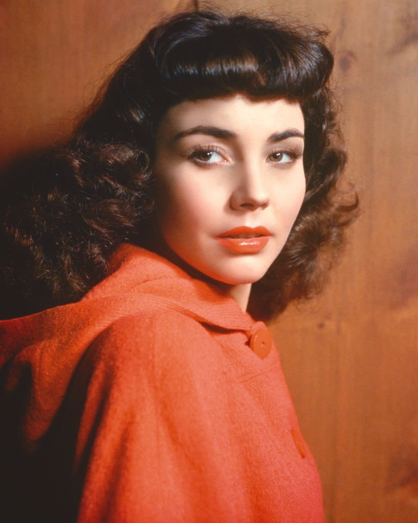 American actress Jennifer Jones wearing a red cape, circa 1945.   Photo: Getty Images