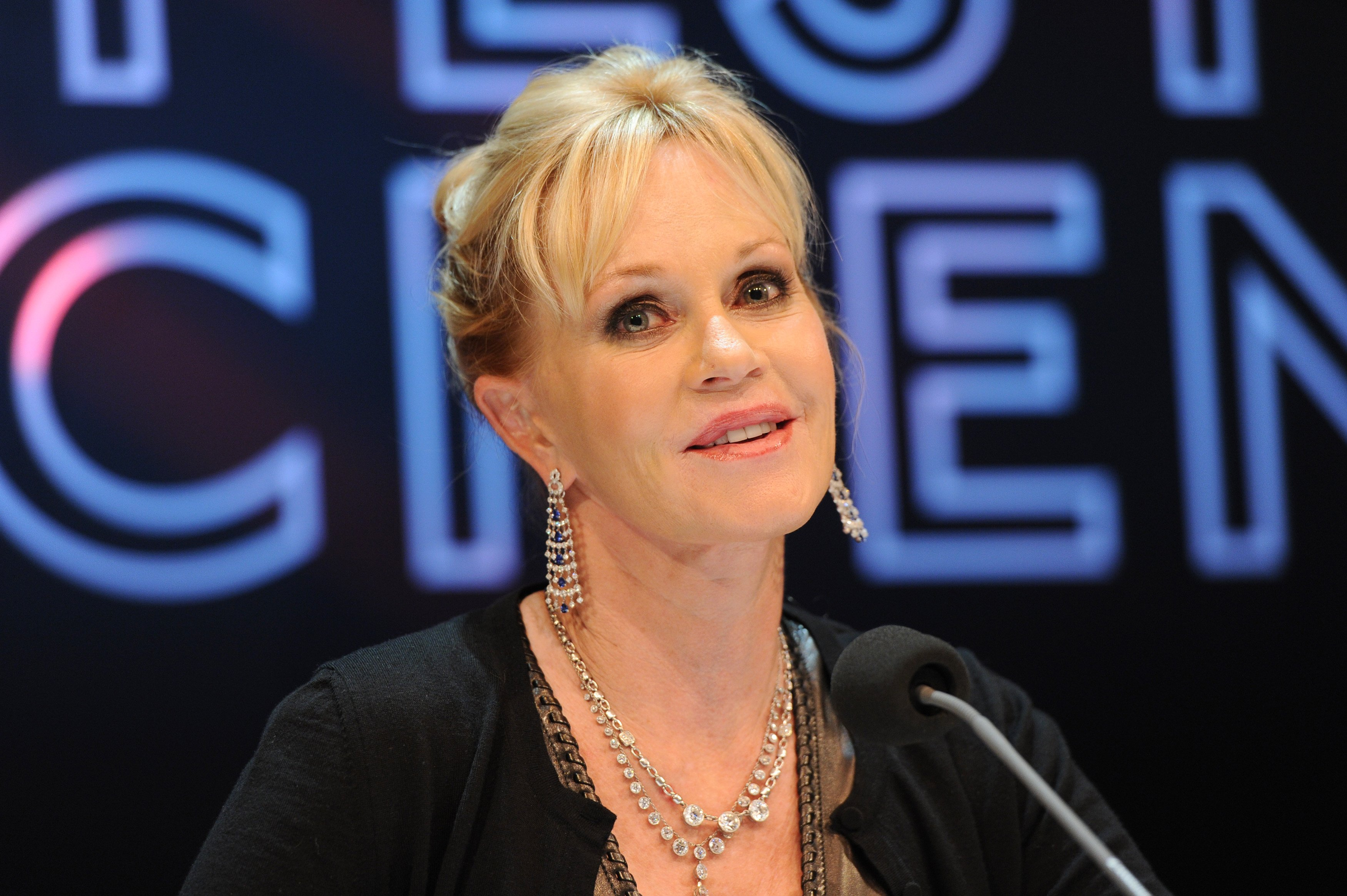 Melanie Griffith participates in a panel talk at The Black Box during the Munich film festival on July 3, 2012 in Munich, Germany. | Source: Getty Images