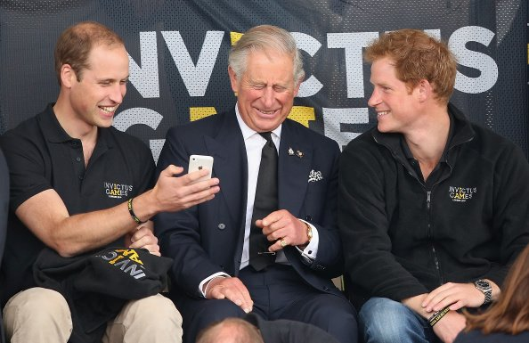 Prince William, Prince Harry, and Prince Charles during the Invictus Games on September 11, 2014 in London, England. | Photo: Getty Images