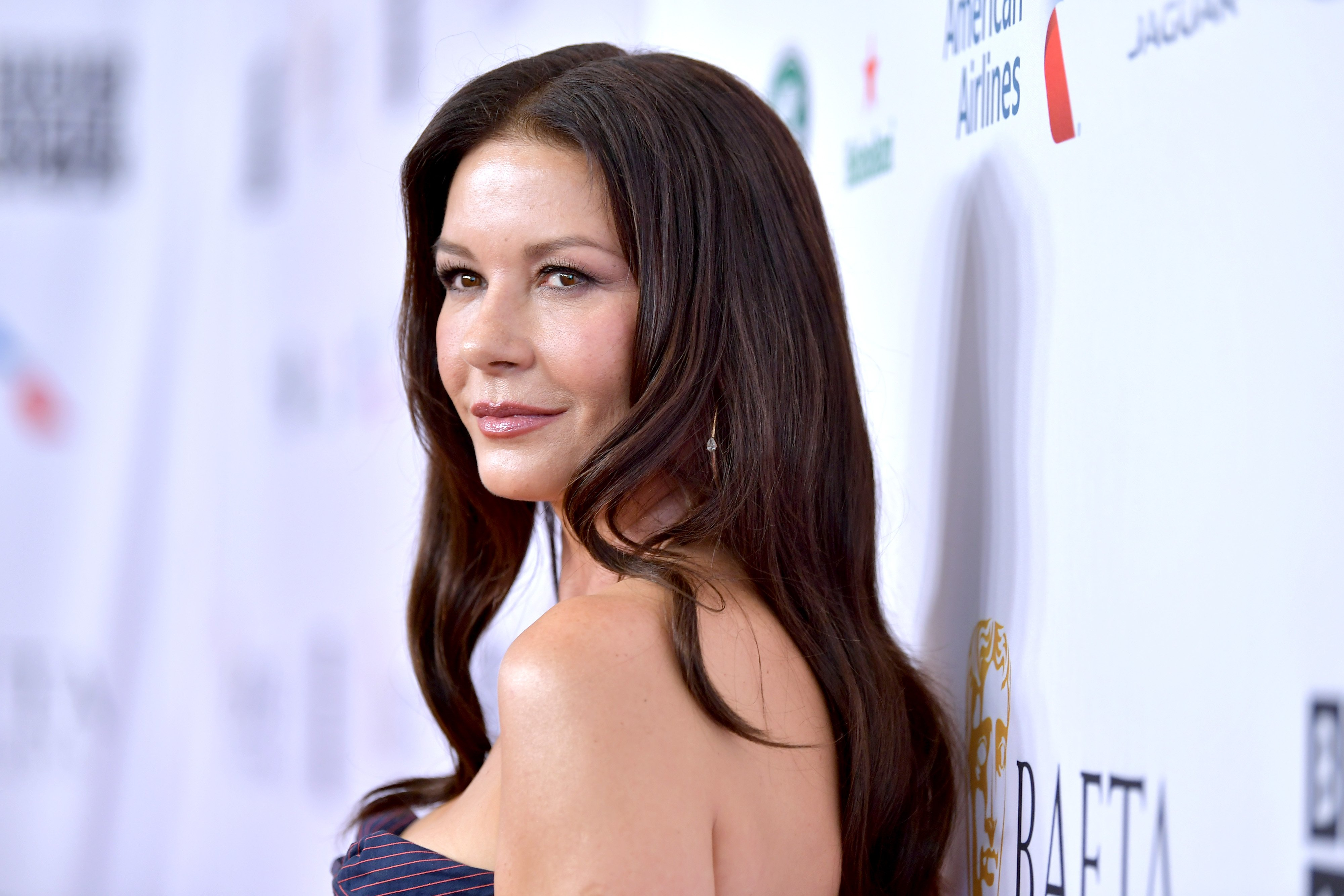 Catherine Zeta-Jones attends the BAFTA TV Tea Party in Beverly Hills, California on September 21, 2019 | Photo: Getty images