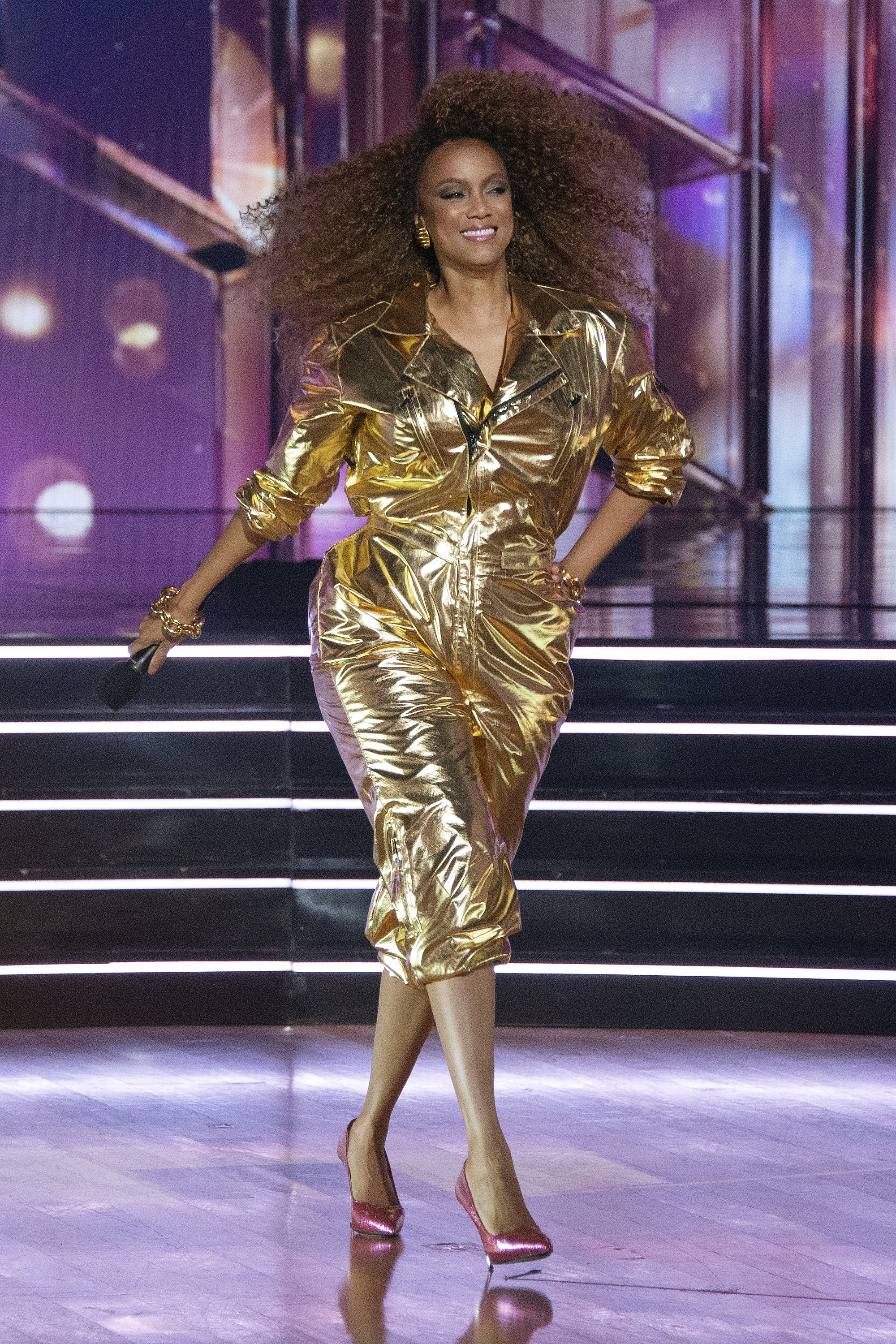 """Tyra Banks hosting 80s night on """"Dancing With The Stars"""" on October 12, 2020.   Source: Getty Images."""