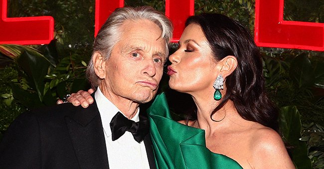 Michael Douglas and Catherine Zeta-Jones at the Netflix 2019 Golden Globes After Party on January 6, 2019 in Los Angeles, California. | Photo: Getty Images