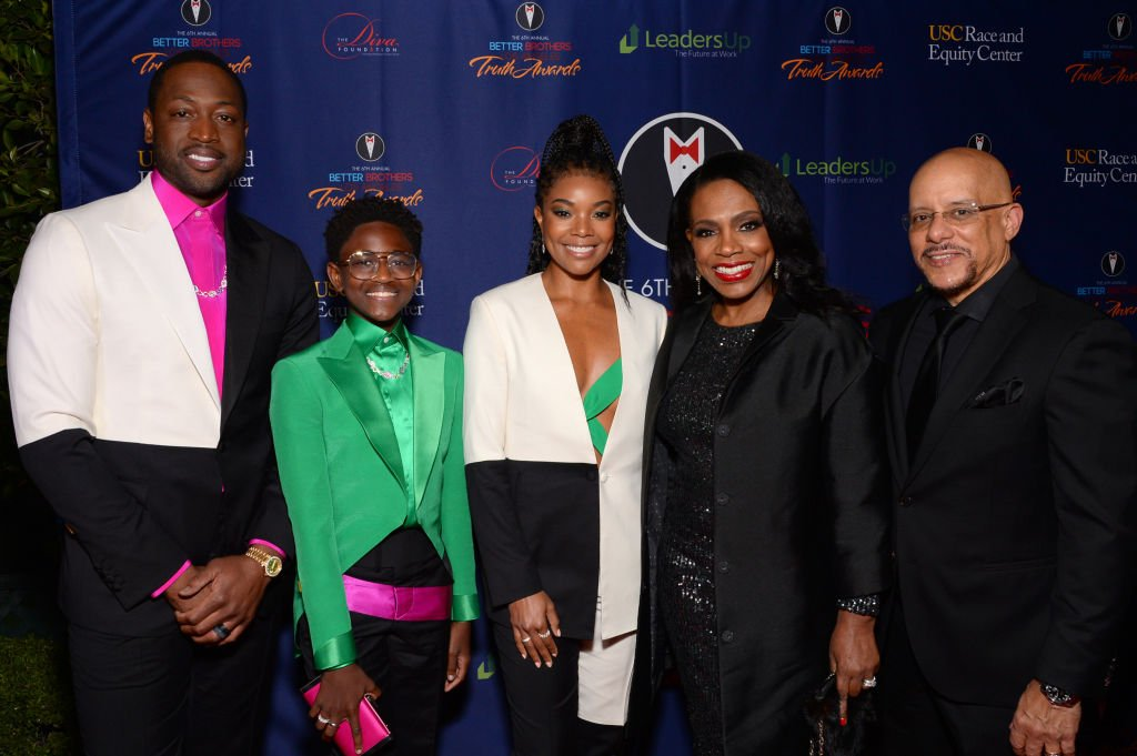 Dwyane Wade, Zaya Wade, Gabrielle Union, Sheryl Lee Ralph and Vincent Hughes attend the Better Brothers Los Angeles' 6th annual Truth Awards , March 2020| Photo: Getty Images