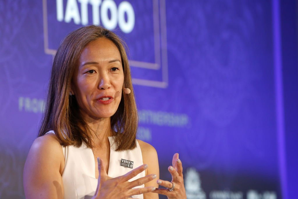 Emergency Medicine Times Up Healthcare Esther Choo speaks on stage during the Conde Nast session at the Cannes Lions 2019 : Day Two on June 18, 2019 | Photo: Getty Images
