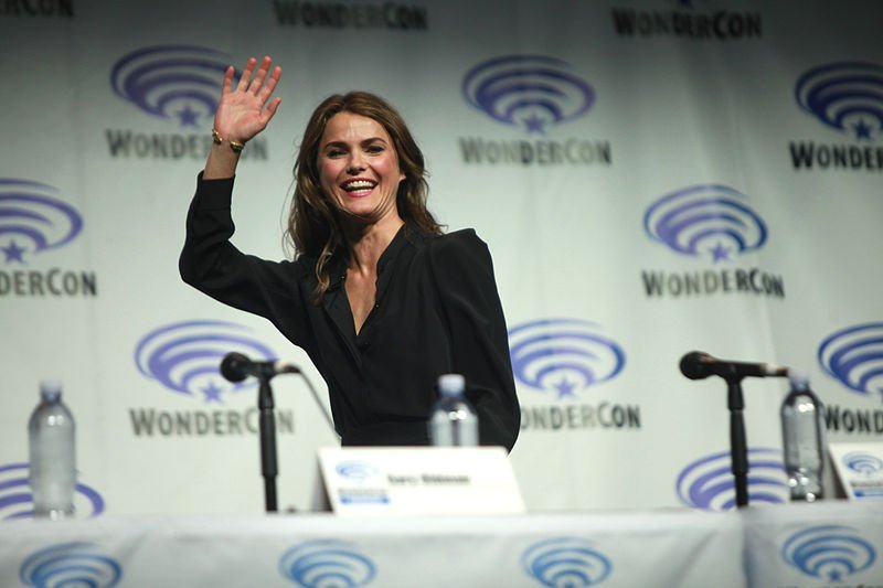 """Keri Russell speaking at the 2014 WonderCon, for """"Dawn of the Planet of the Apes"""", at the Anaheim Convention Center in Anaheim, California. 