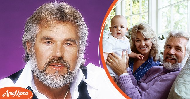 Left: Singer Kenny Rogers poses for a portrait in 1979 in Los Angeles, California. Right: Christopher Cody Rogers, Marianne Gordon, Kenny Rogers on '20/20', in 1982.   Source: Getty Images