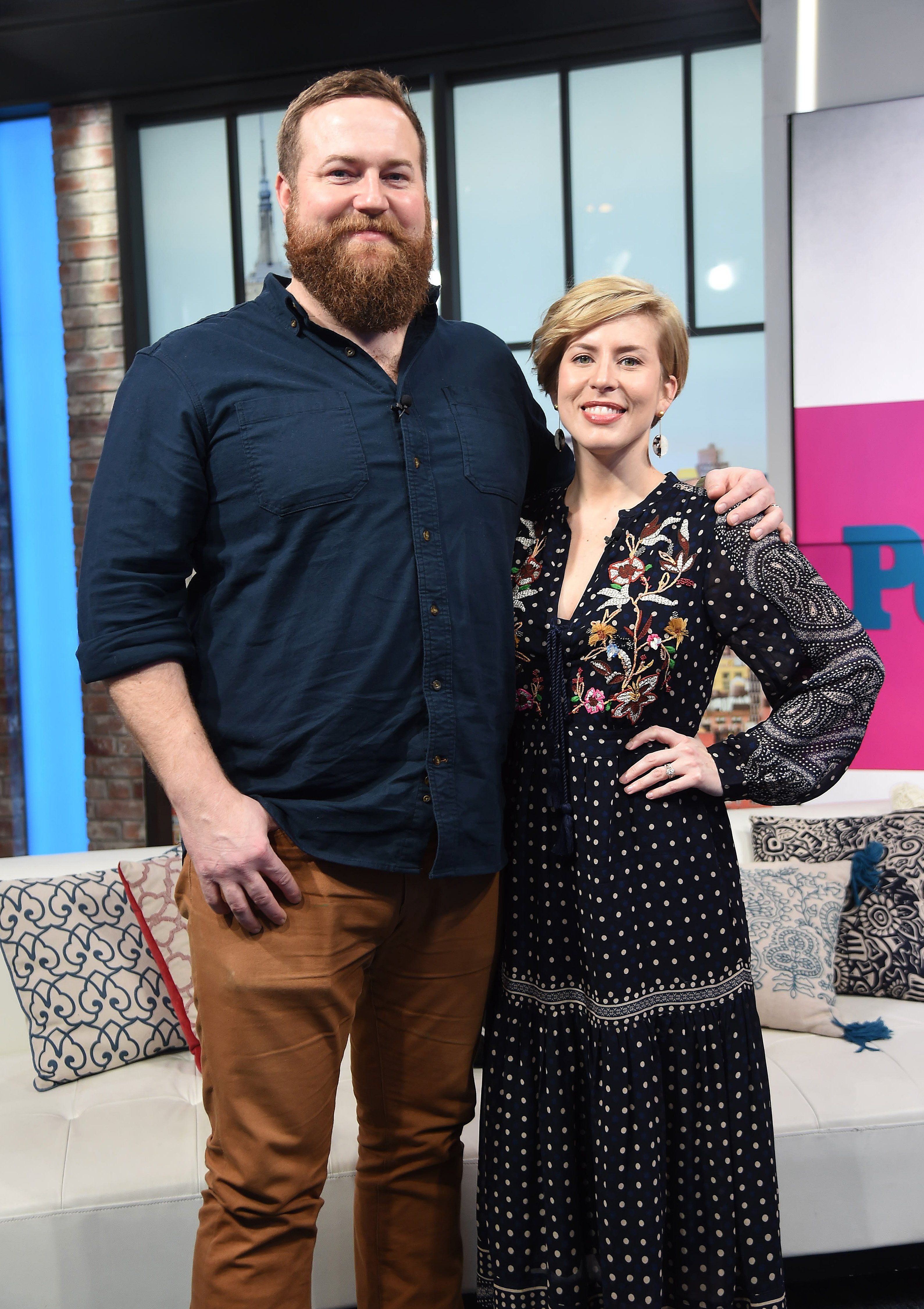 """HGTV """"Home Town"""" stars Ben Napier and Erin Napier visit People Now on January 08, 2020 in New York City.   Source: Getty Images"""