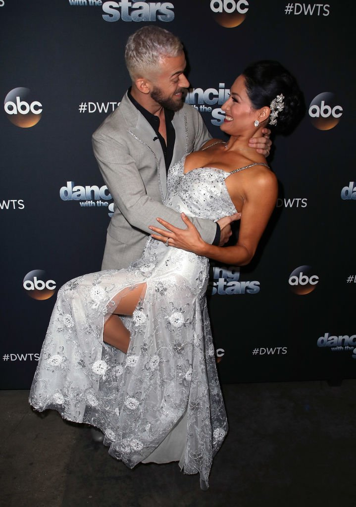 New parents Artem Chigvintsev and Nikki Bella attend the 2017 DWTS Season 25 in Los Angeles. | Photo: Getty Images