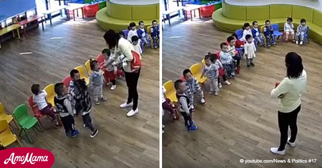 Daycare teachers jailed after video surfaces of children being force-fed wasabi
