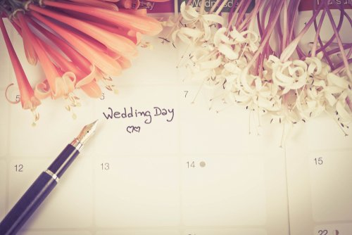 A calendar with the wedding date marked. | Source: Shutterstock.