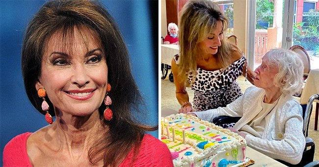 Susan Lucci Looks Age-Defying as She Celebrates Her Mother's 104th Birthday with a Huge Cake