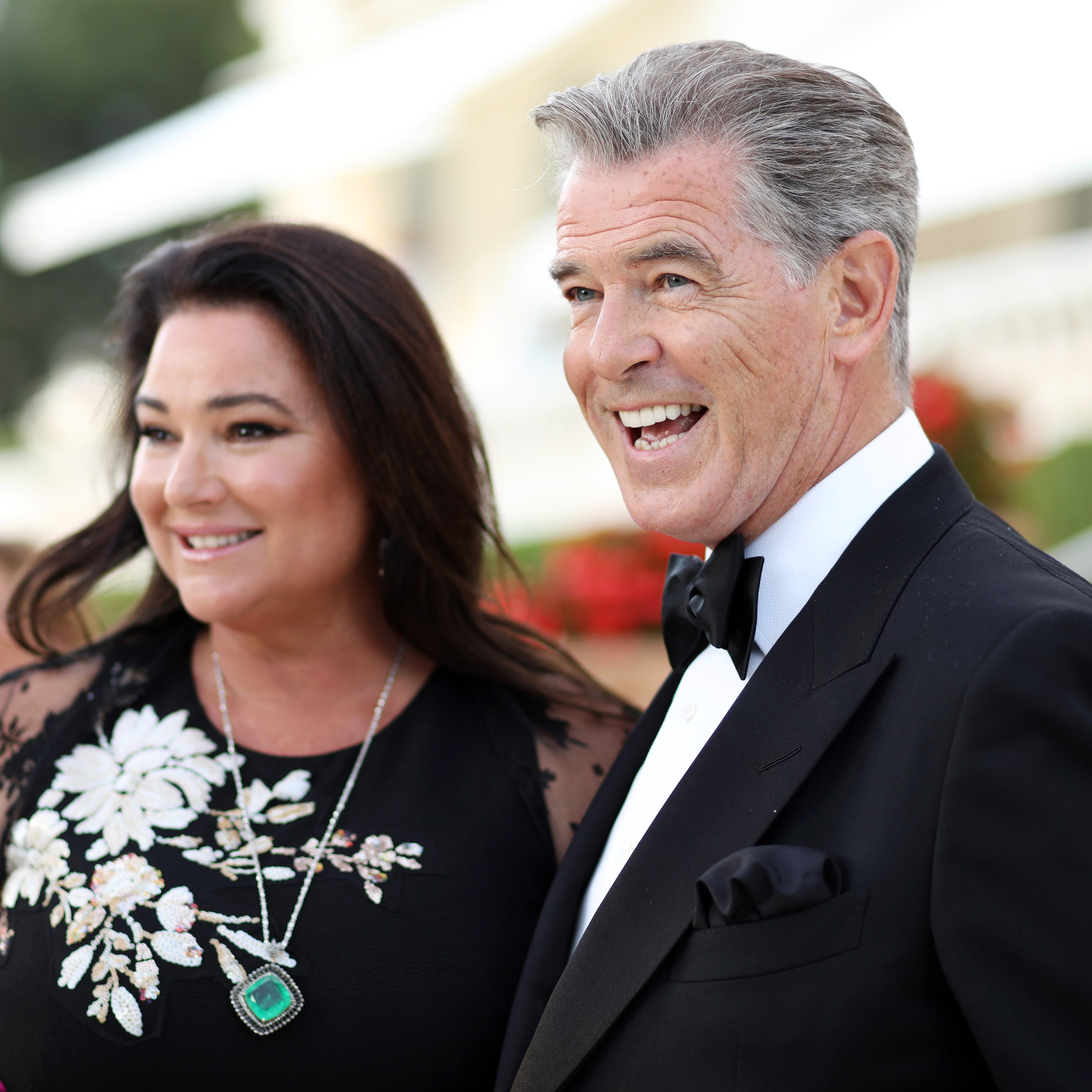 Pierce Brosnan and wife Keely Shaye Smith attend the cocktail at the amfAR Gala Cannes 2018 | Source: Getty Images