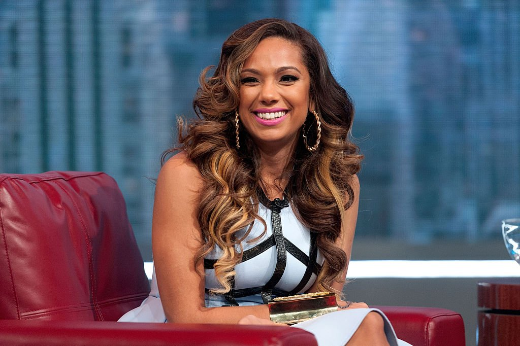 Erica Mena hosts BET's 106 & Park at BET studios on October 1, 2014 in New York City.|Source: Getty Images
