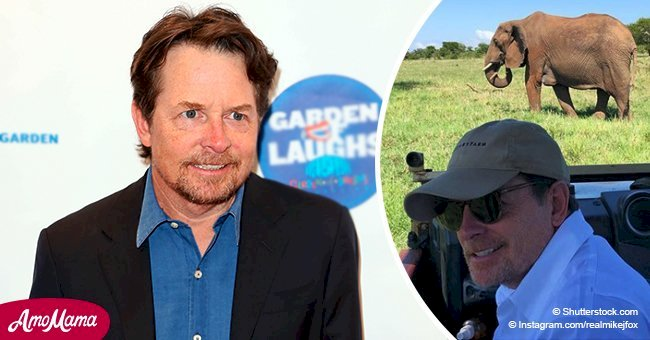 Michael J. Fox wishes a Merry Christmas to 'elephants' while on safari vacation in Tanzania
