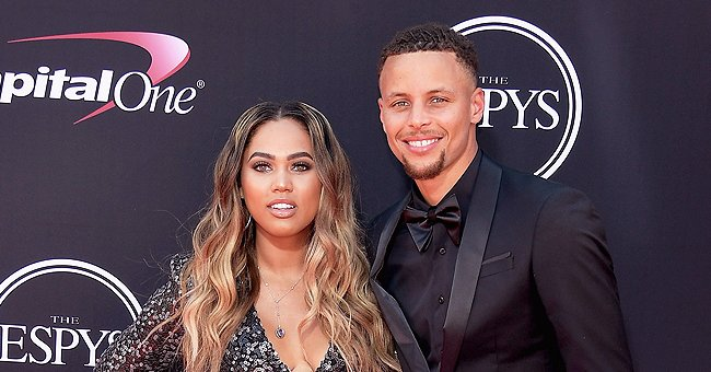 Ayesha Curry Watches Son Canon as He Plays with a Phone in an Adorable New Pic