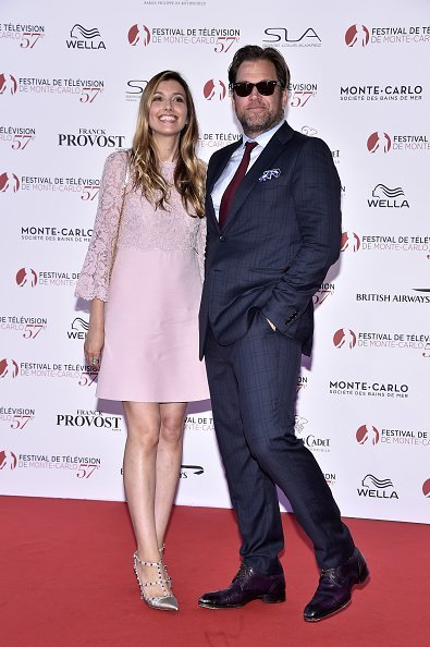 Bojana Jankovic and Michael Weatherly at the 57th Monte Carlo TV Festival Opening Ceremony on June 16, 2017 | Photo: Getty Images