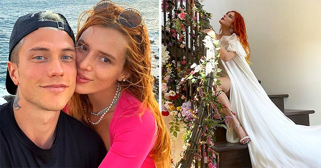 Bella Thorne Channels Bridal Beauty in a White Gown after Engagement with Benjamin Mascolo