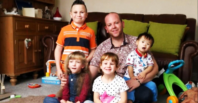 Hombre soltero adopta a cinco niños con discapacidad y los cría por su cuenta
