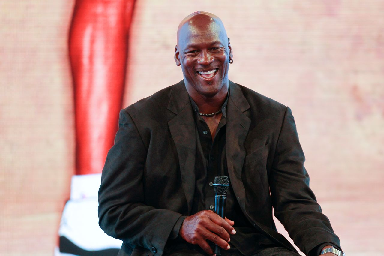 Michael Jordan attends a press conference for the celebration of the 30th anniversary of the Air Jordan Shoe in Paris on June 12, 2015 in Paris, France. | Source: Getty Images