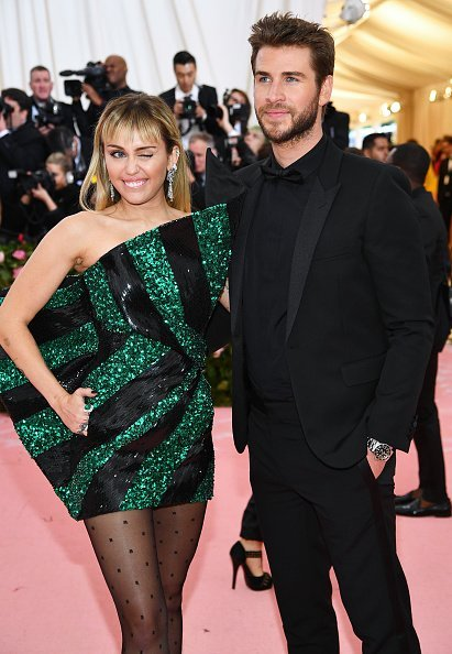 Miley Cyrus and Liam Hemsworth attend The 2019 Met Gala Celebrating Camp: Notes on Fashion at Metropolitan Museum of Art on May 06, 2019 | Photo: Getty Images