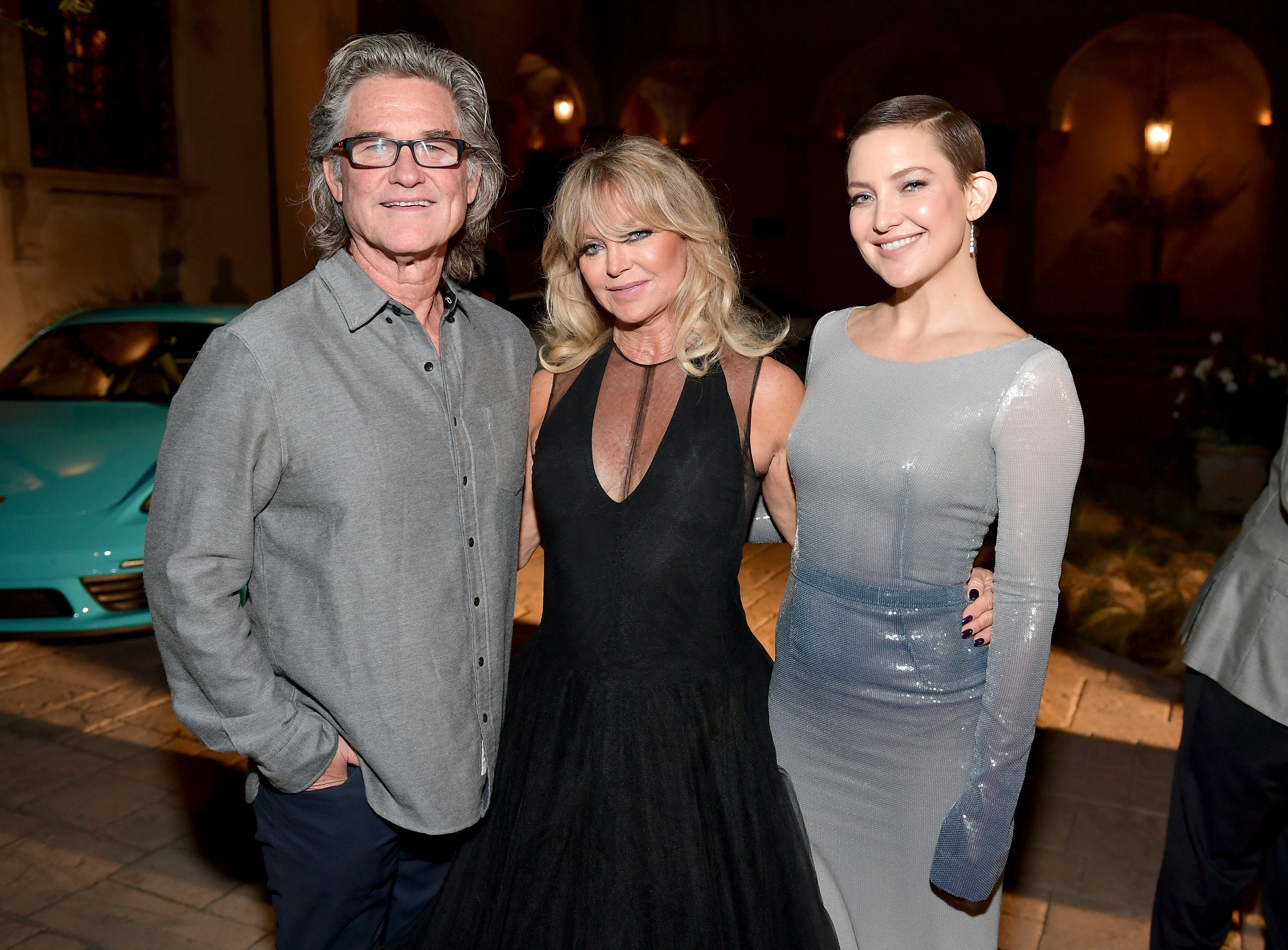 Kurt Russell, Goldie Hawn, and Kate Hudson. | Source: Getty Images