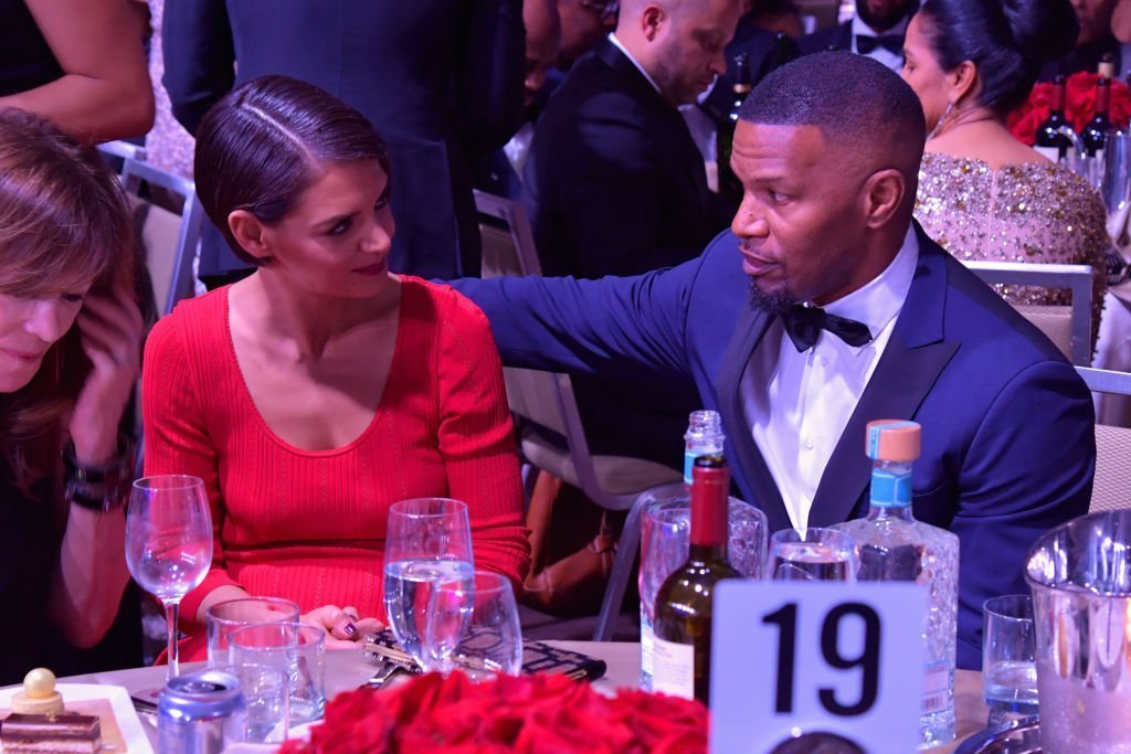 Katie Holmes and Jamie Foxx attend the Clive Davis and Recording Academy Pre-GRAMMY Gala in January 2019 in NYC | Photo: Getty Images/Global Images Ukraine