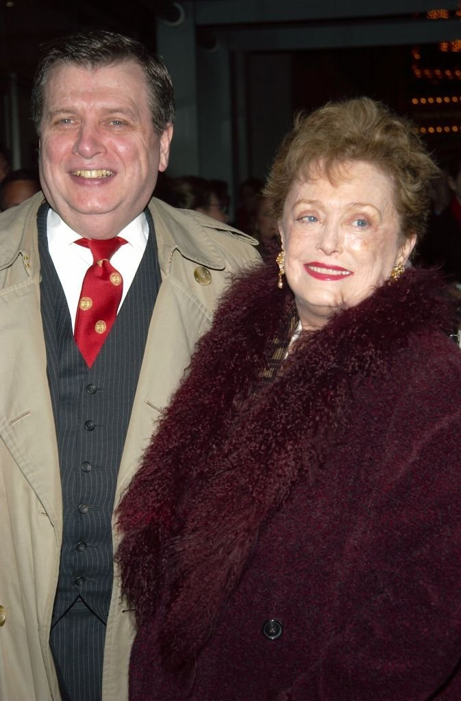 """Rue McClanahan and her husband Morrow Wilson at the opening night of the play """"Tartuffe"""" 