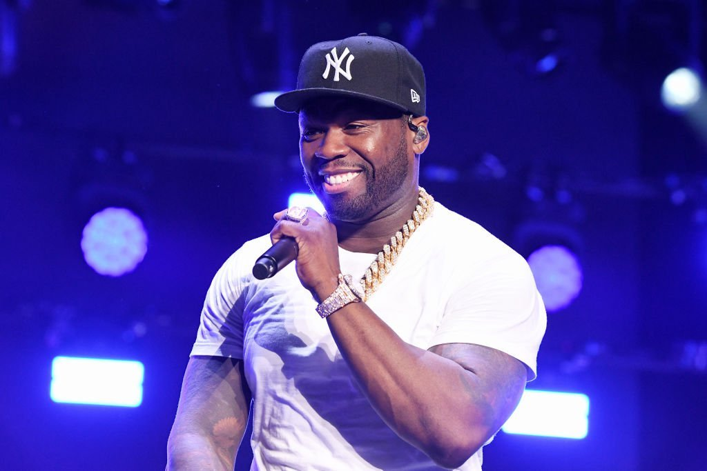"""50 Cent performs onstage at STARZ Madison Square Garden """"Power"""" Season 6 Red Carpet Premiere, Concert, and Party in New York City 