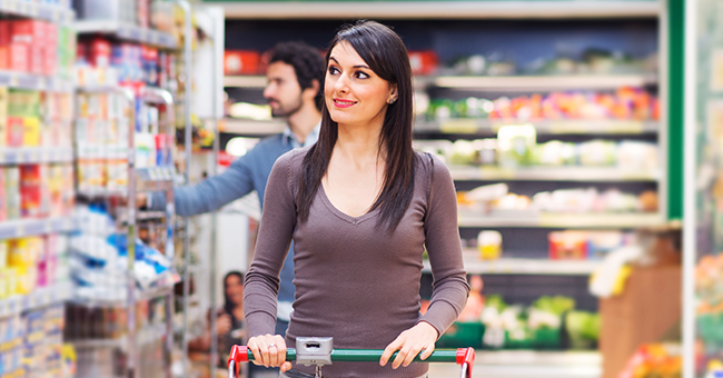 Daily Joke: Man Asks a Very Beautiful Woman to Talk to Him in a Large Supermarket