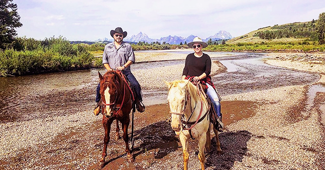 Meghan McCain Rides Horses with Her Husband Ben Domenech in Wyoming