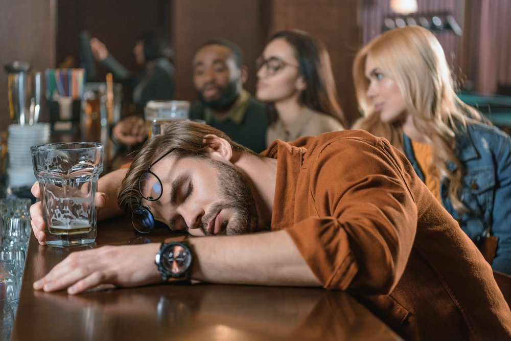The drunk man on his way to the lecture will shock the police officers twice   Photo: Shutterstock