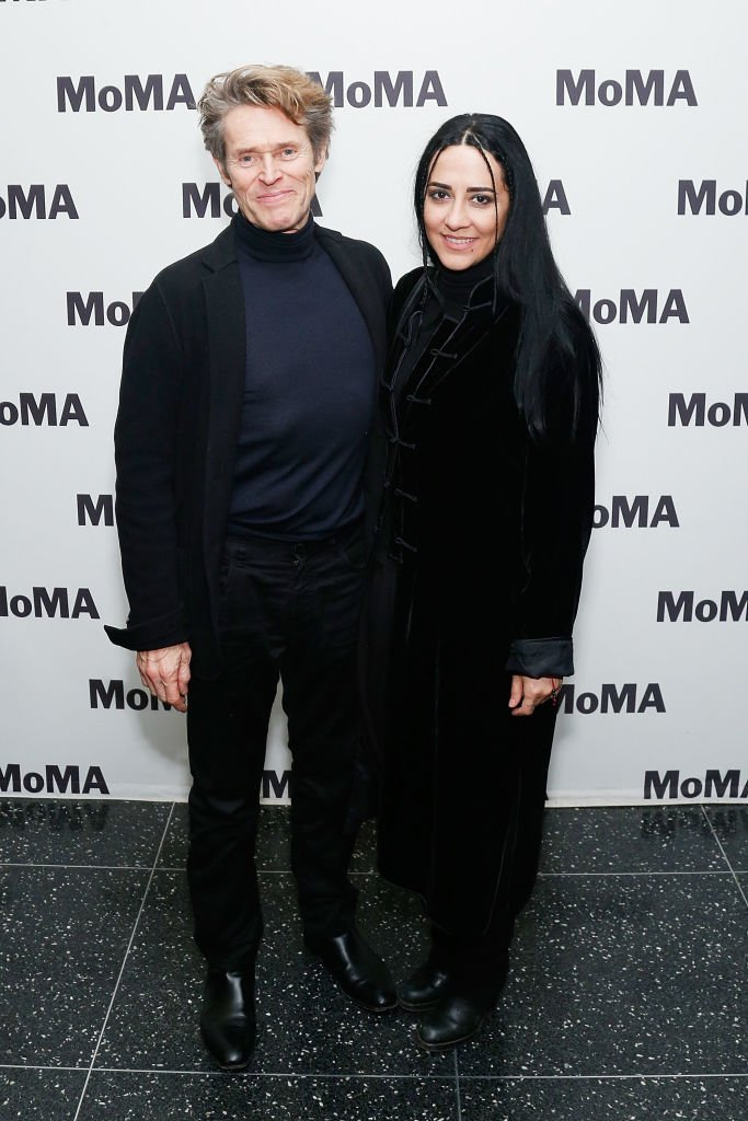 """Willem Dafoe and Giada Colagrande attend the opening night of the MoMA film series """"Abel Ferrara Unrated"""" at MoMA. 