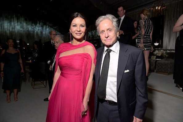 Catherine Zeta-Jones and Michael Douglas attend the 2019 Netflix Primetime Emmy Awards After Party at Milk Studios | Photo: Getty Images