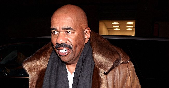 Steve Harvey from 'Celebrity Family Feud' Shows How He Grooms His Famous Mustache in a Recent Clip