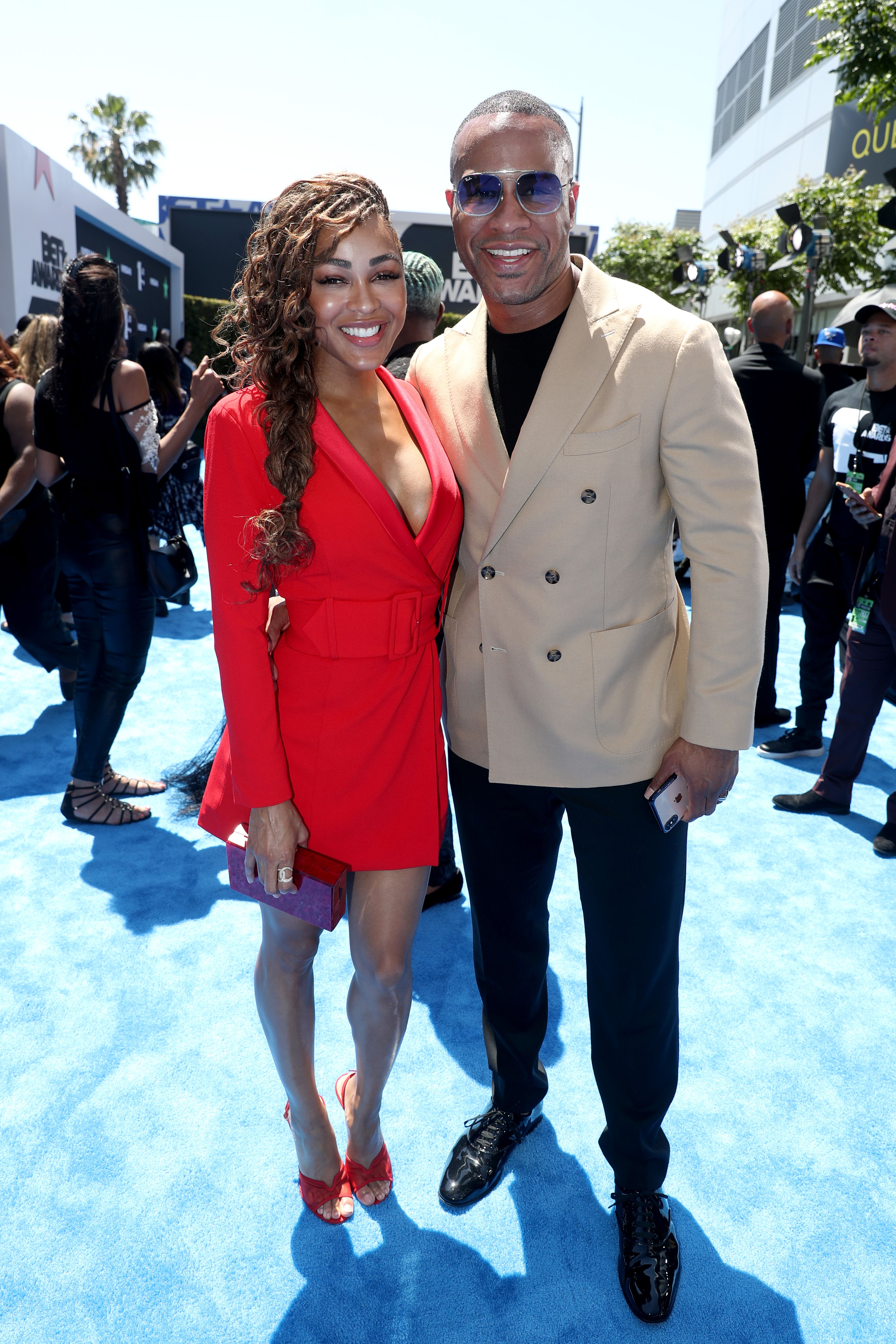 Meagan Good and DeVon Franklin at the BET Awards on June 23, 2019 in Los Angeles. | Photo: Getty Images