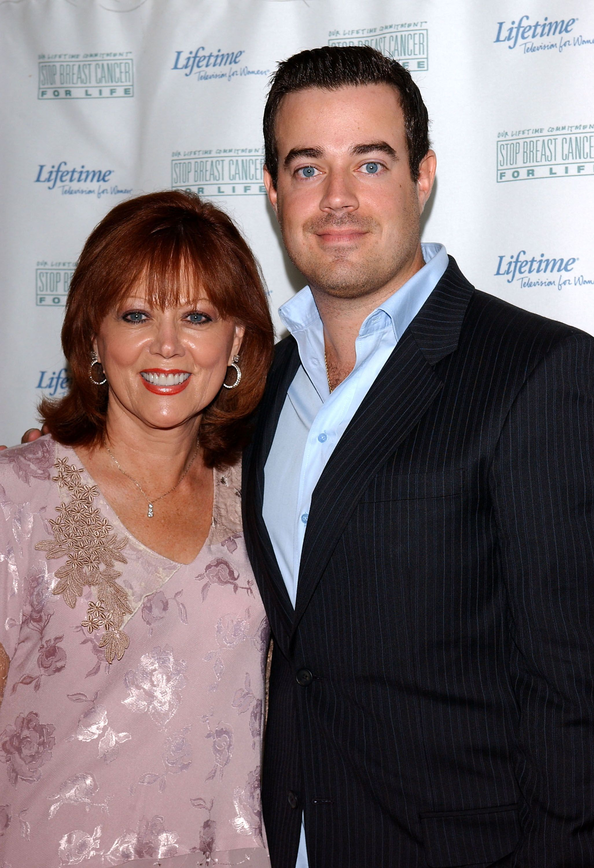"Carson Daly and his mother Pattie Daly Caruso at the Lifetime Television ""Breast Cancer Heroes Luncheon"" in Los Angeles 