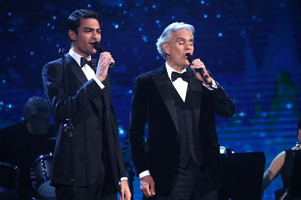 Matteo and Andrea Bocelli perform on the stage during the David Di Donatello Award Ceremony | Photo: Getty Images