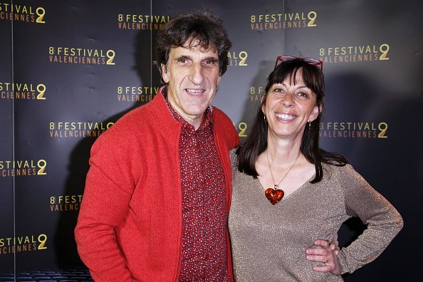"Gilles Benizio, Corinne Benizio , alias ""Shirley et Dino"" assistent à la photocall vaant la cérémonie de clôture du Festival du film de Valenciennes à Valenciennes, France. 