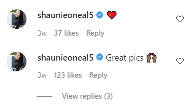 Shaunie O'Neal comments on her son Shareef's Instagram post | Source: Instagram.com/shareefoneal/