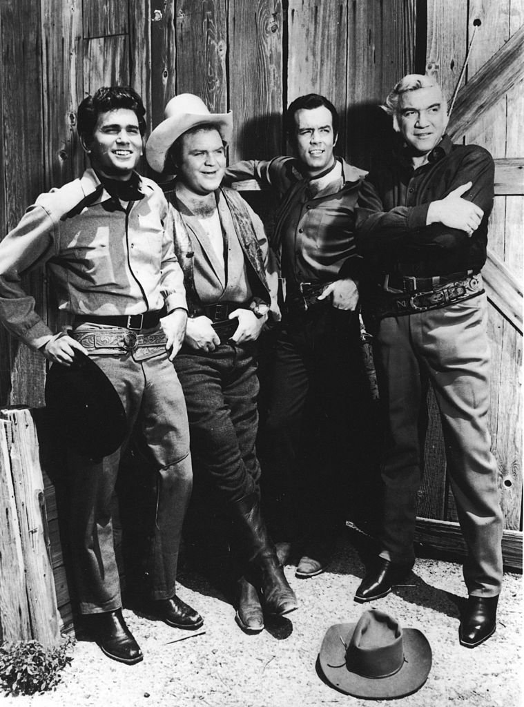 "Michael Landon (1936 - 1991), Dan Blocker (1928 - 1972), and Pernell Williams, and Canadian actor Lorne Green (1915 - 1987) for the television show ""Bonanza"" 