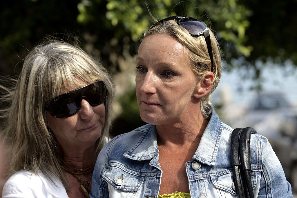 Ben Needham's mother Kerry and his grandmother Christine making a statement to the media as British police continue the search for Ben, October 2012   Source: Getty Images