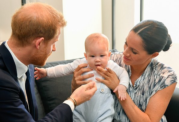 Prince Harry, Duke of Sussex, Meghan, Duchess of Sussex and their baby son Archie Mountbatten-Windsor meet Archbishop Desmond Tutu | Photo: Getty Images