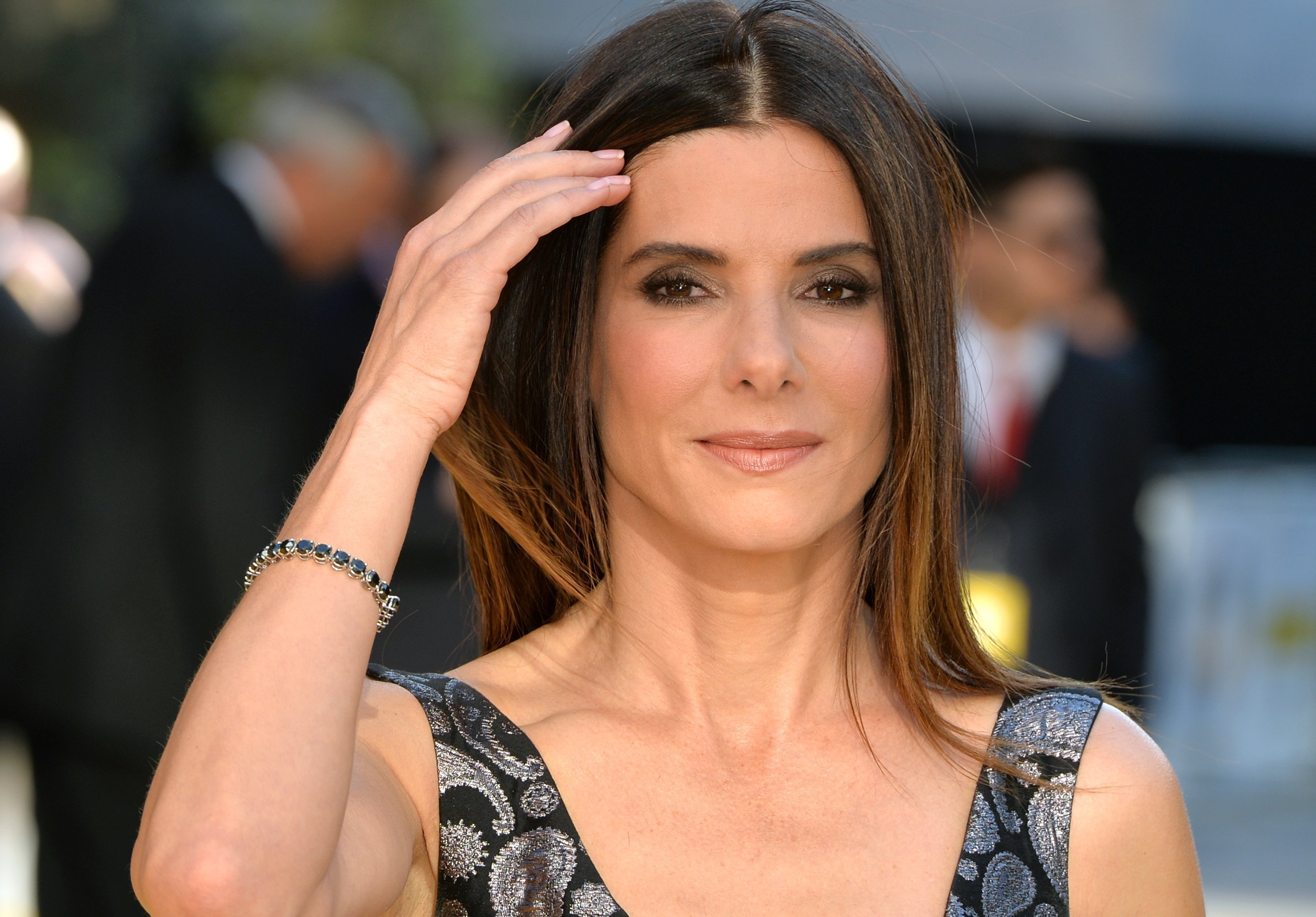"Sandra Bullock attends the world premiere of ""Minions"" at Odeon Leicester Square on June 11, 2015 